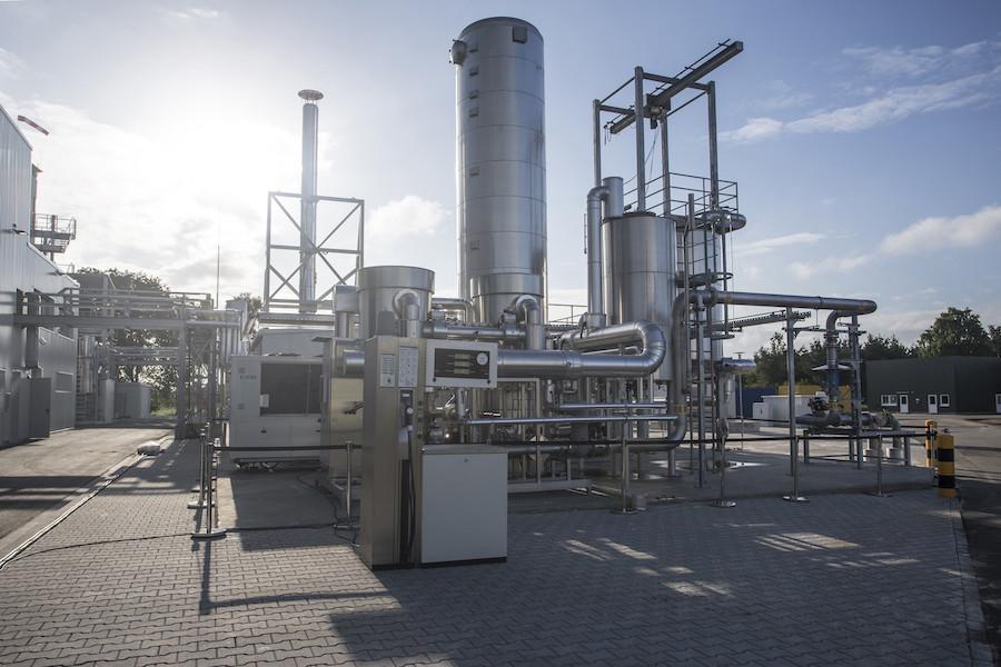 Produktionsanlage für Audi e-gas in Werlte im Emsland (Niedersachsen)